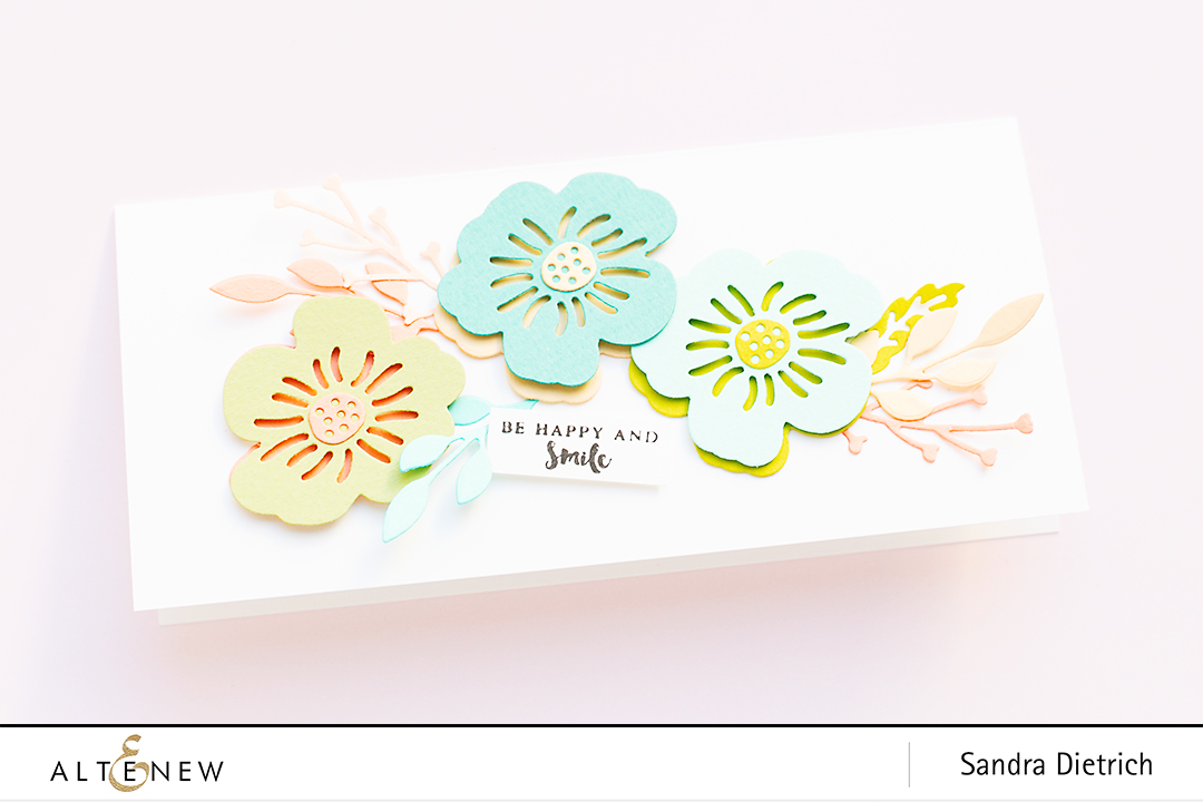 Spring Inspiration Card with Layered Foral Elements Die @SandraDietrich for @Altenew