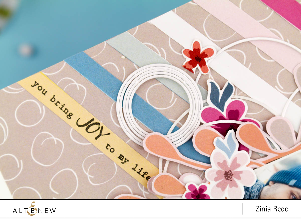 Pastel Dreams Paper Pack Scrapbook Layout @ziniaredo @altenewllc #ziniaredo #altenew #scrapbook #scrapbooking #patternpaper #papercrafting