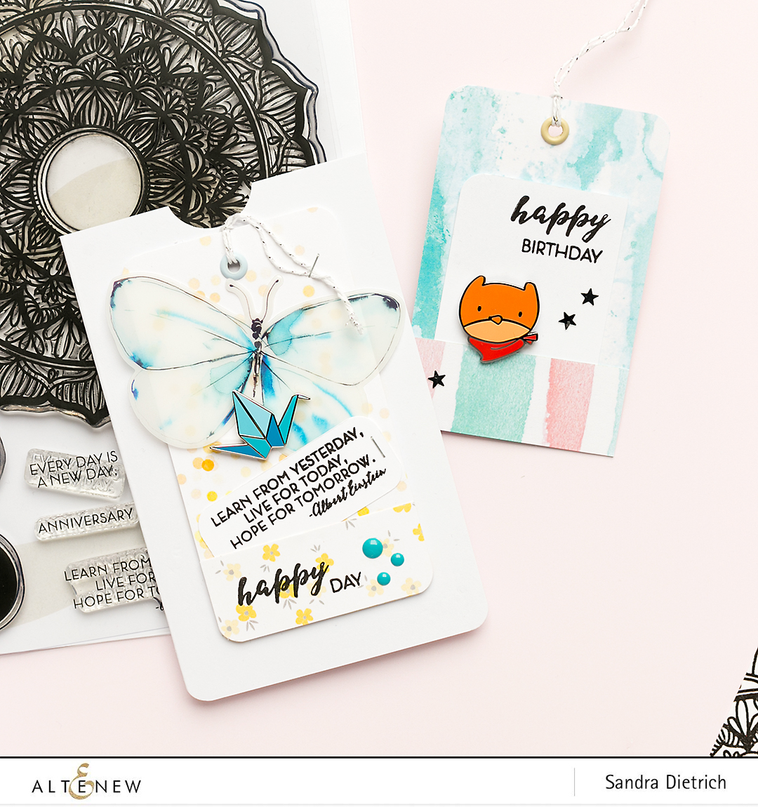 Decorate your presents with these cute tags @SandraDietrich for @Altenew