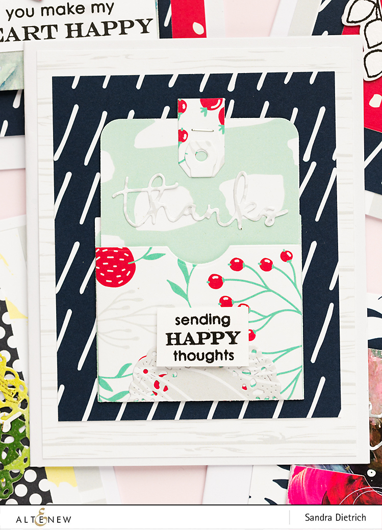 Sending happy thoughts card @SandraDietrich for @Altenew
