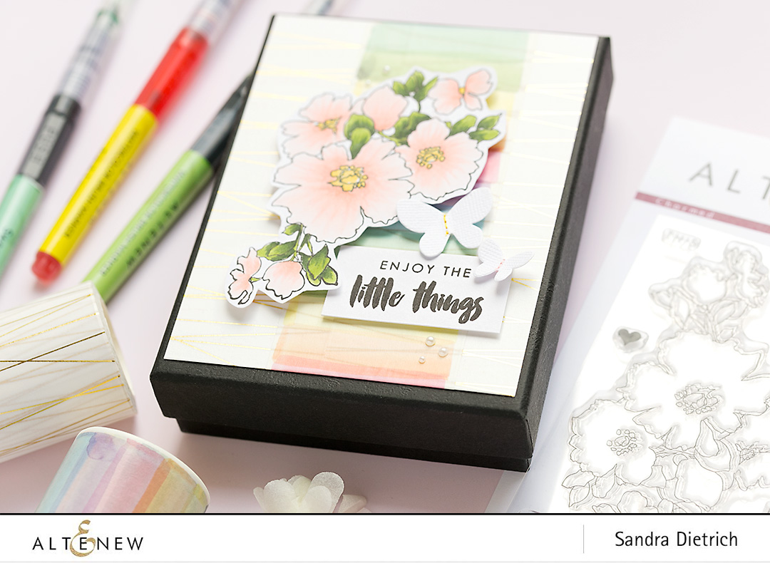 gift box detail charmed stamp set @sandradietrich for @altenew