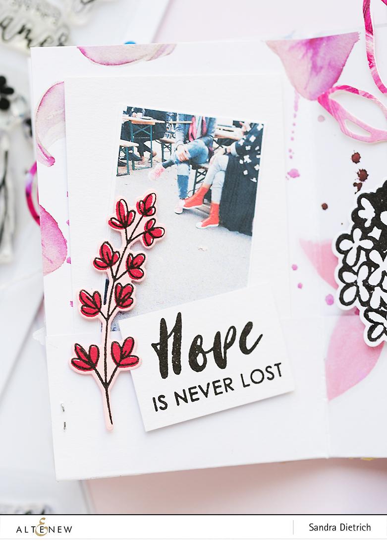 Hope is never lost Mini Album Page @SandraDietrich for @Altenew
