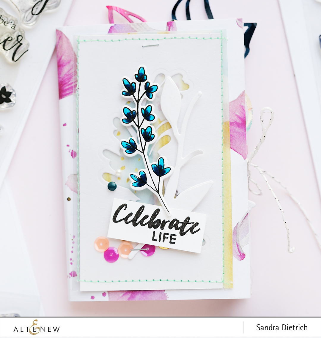 Cover Stamp Highlight Sophisticated Wreath @SandraDietrich for @Altenew