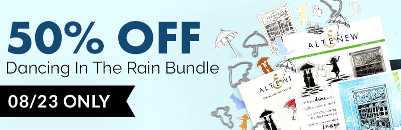 Get 50% OFF Dancing in the Rain Stamp & Die Bundle