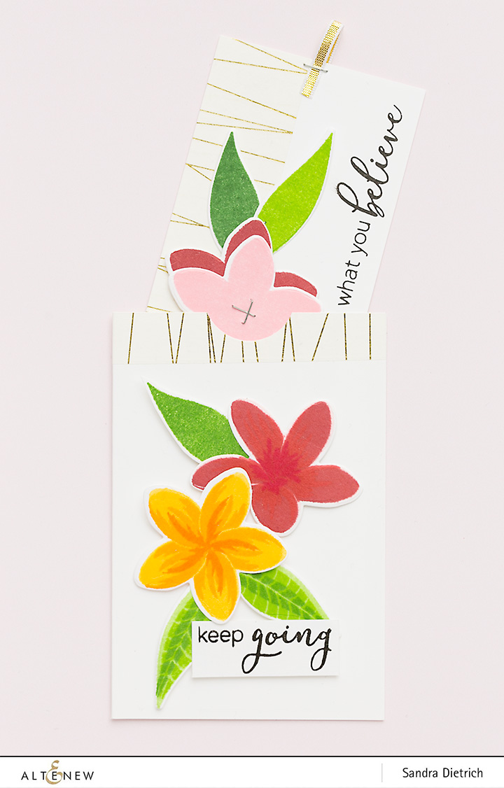 Floral Embellishments for Gift Tags @SandraDietrich for @Altenew