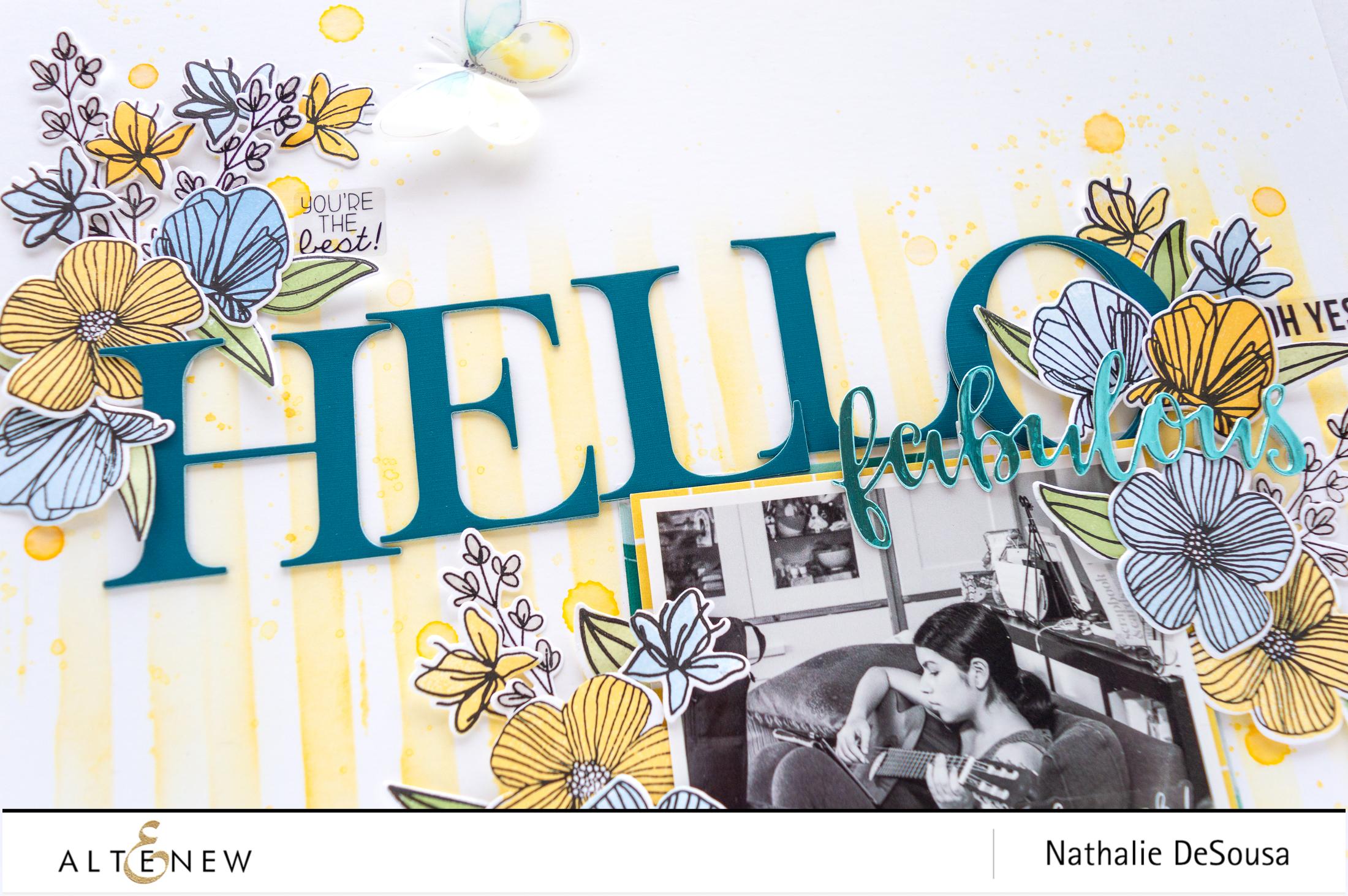 HELLO FABULOUS by Nathalie DeSousa for @altenew