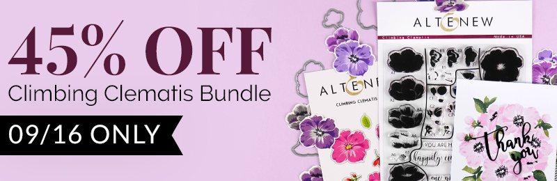 Get 45% OFF Climbing Clematis stamp and die bundle