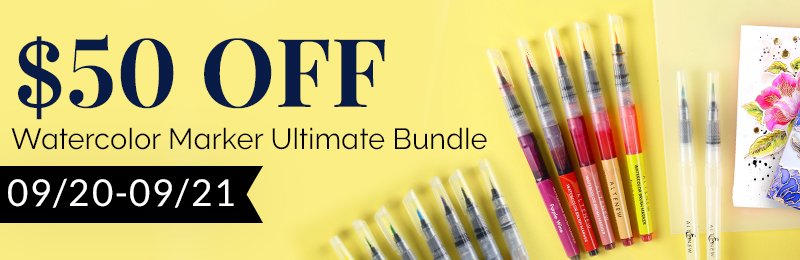 Save $50 OFF Watercolor Marker Ultimate Bundle