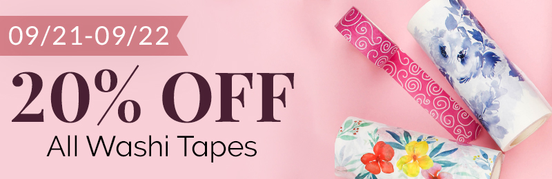 Get 20% OFF All Washi Tapes