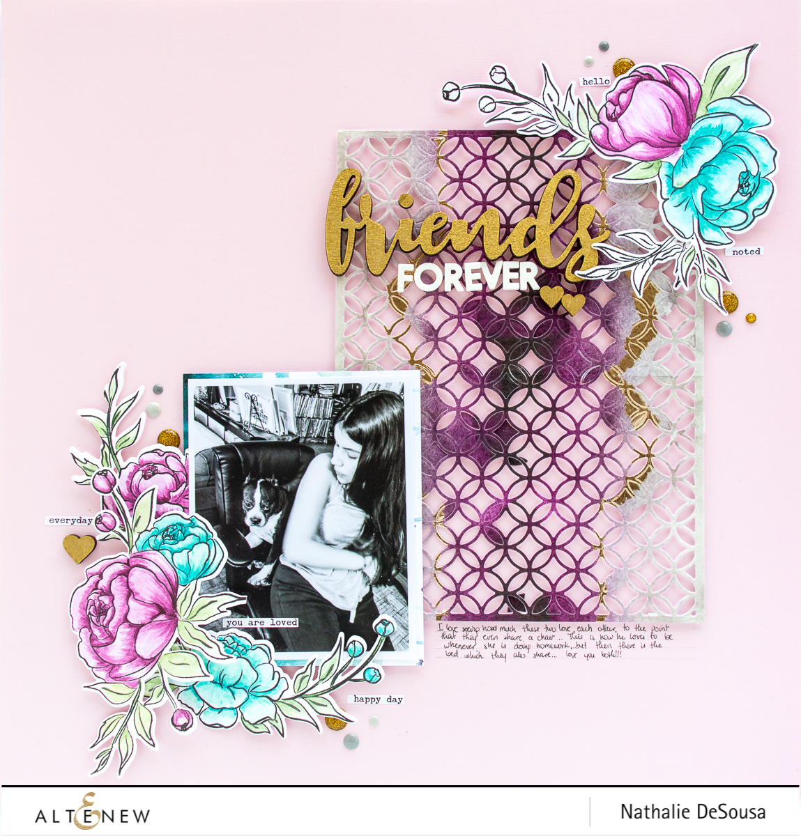@ALTENEW_STAMP FOCUS PRECIOUS PEONY_FRIENDS FOREVER by NATHALIE DESOUSA