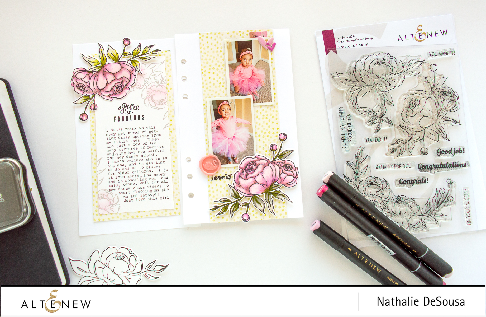 @ALTENEW- PRECIOUS PEONY STAMP SET_You Are Fabulous by Nathalie DeSousa