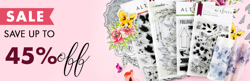 Save up to 45% OFF stamps,dies, inks and more