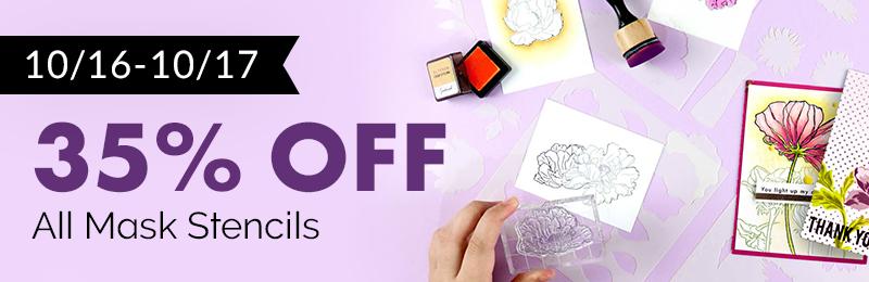 Get 35% off Mask Stencils