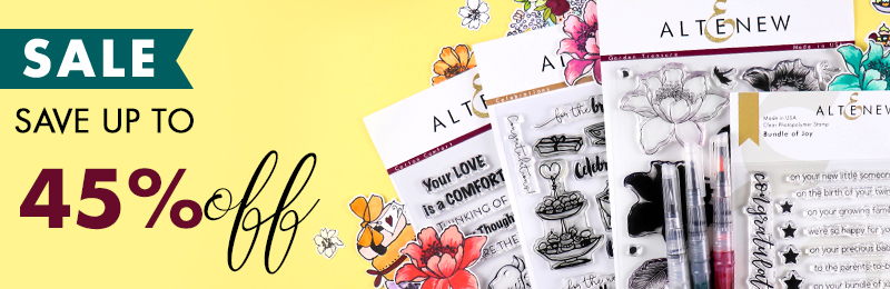Save up to 45% off stamps, dies, inks and more