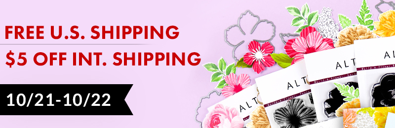 FREE U.S. shipping AND $5 OFF international shipping