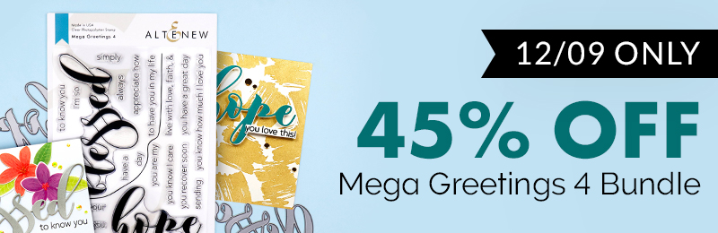 Get 45% off Mega Greetings 4 Stamp & Die Bundle