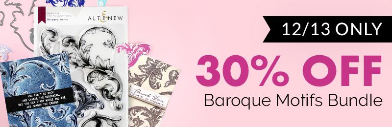 30% OFF on the Baroque Motifs Stamp & Die Bundle