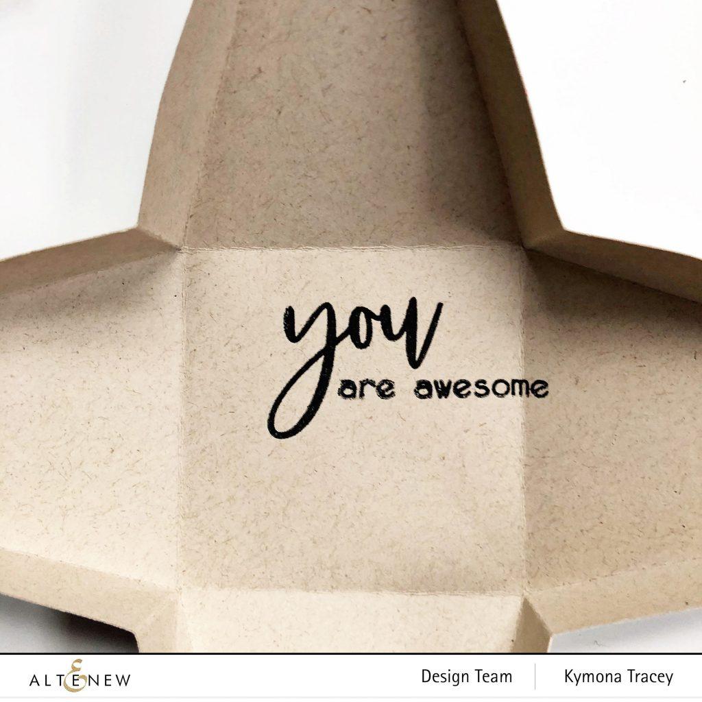 triangle gift box inside