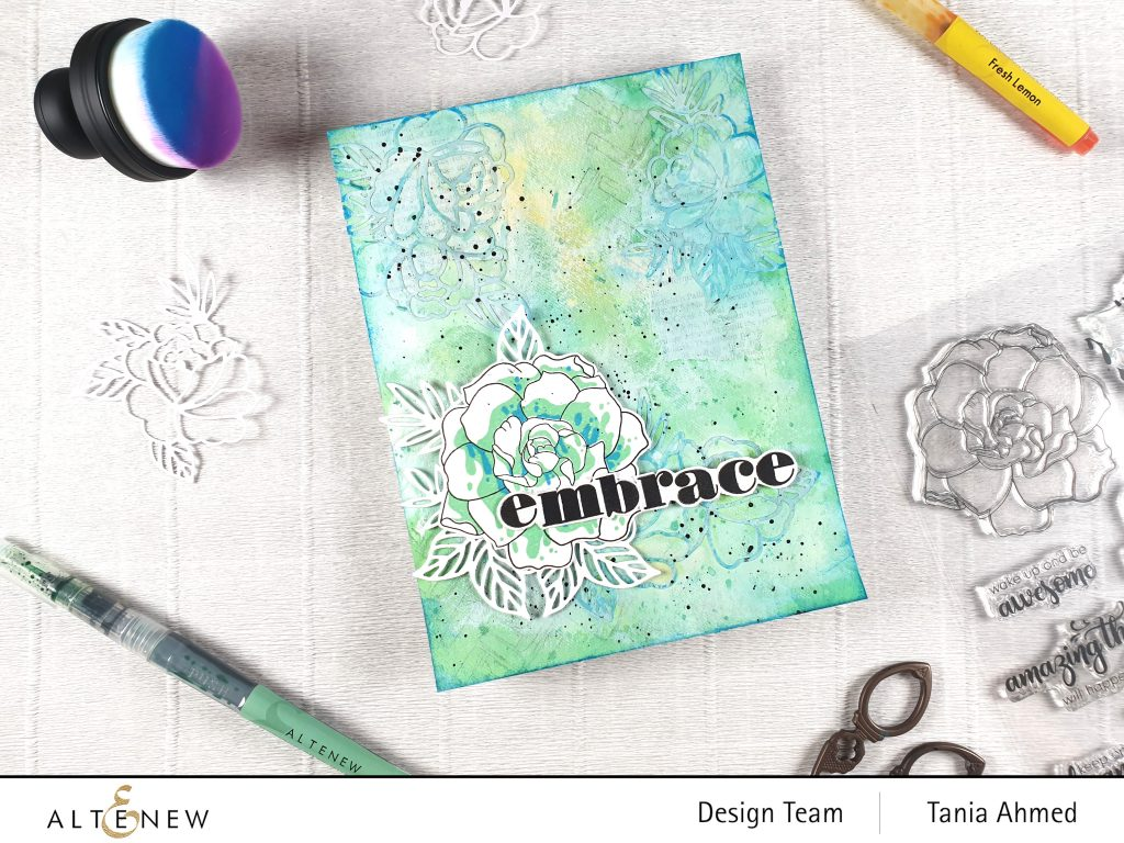 Altenew Mixed Media Art Journal Page for beginners