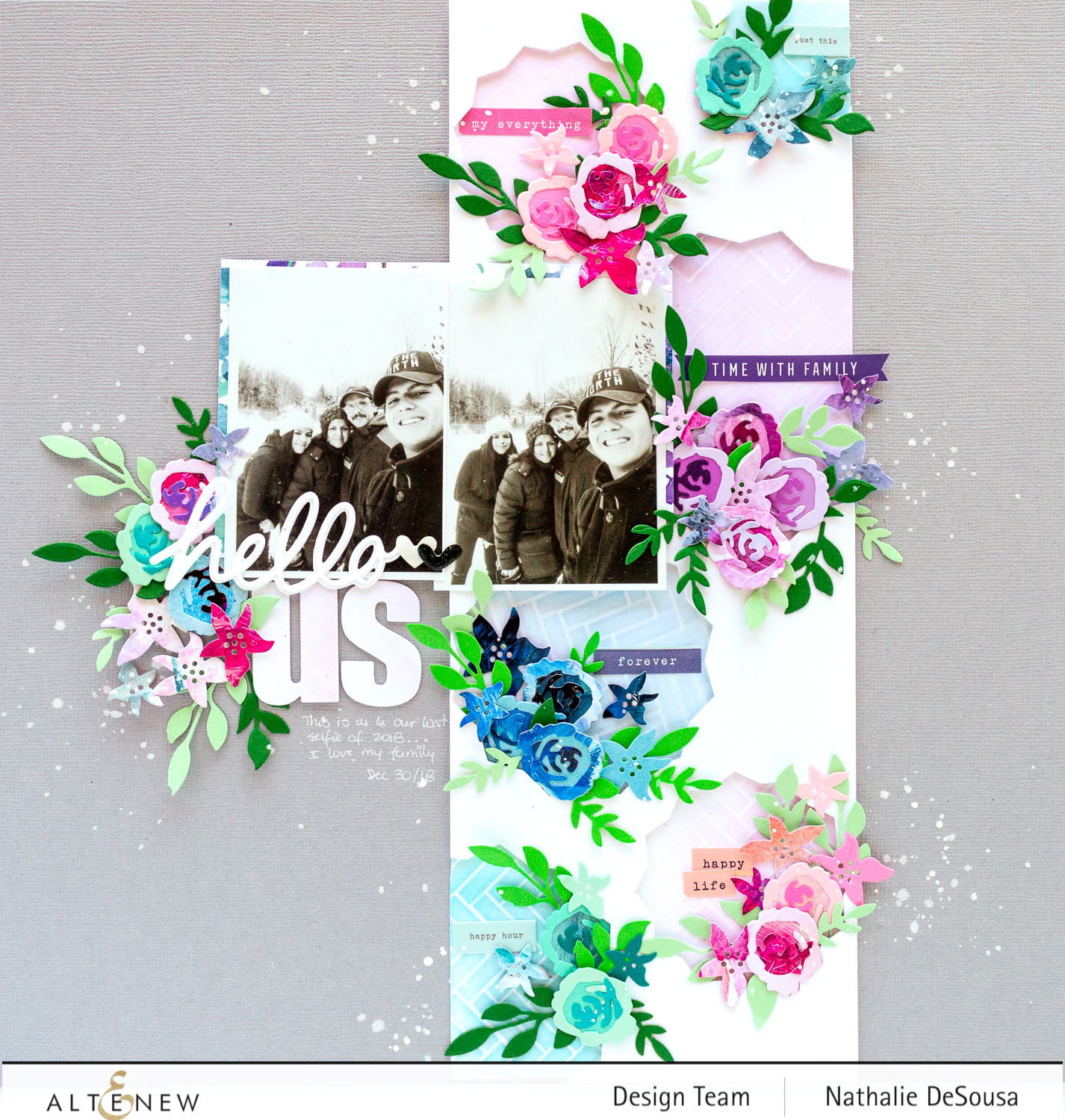@altenew_create a Scrapbook layout using Dies_by Nathalie DeSousa