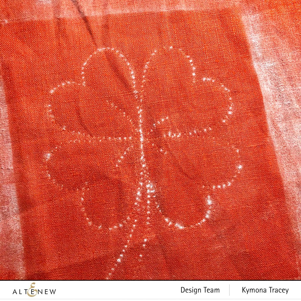 stitching the pattern