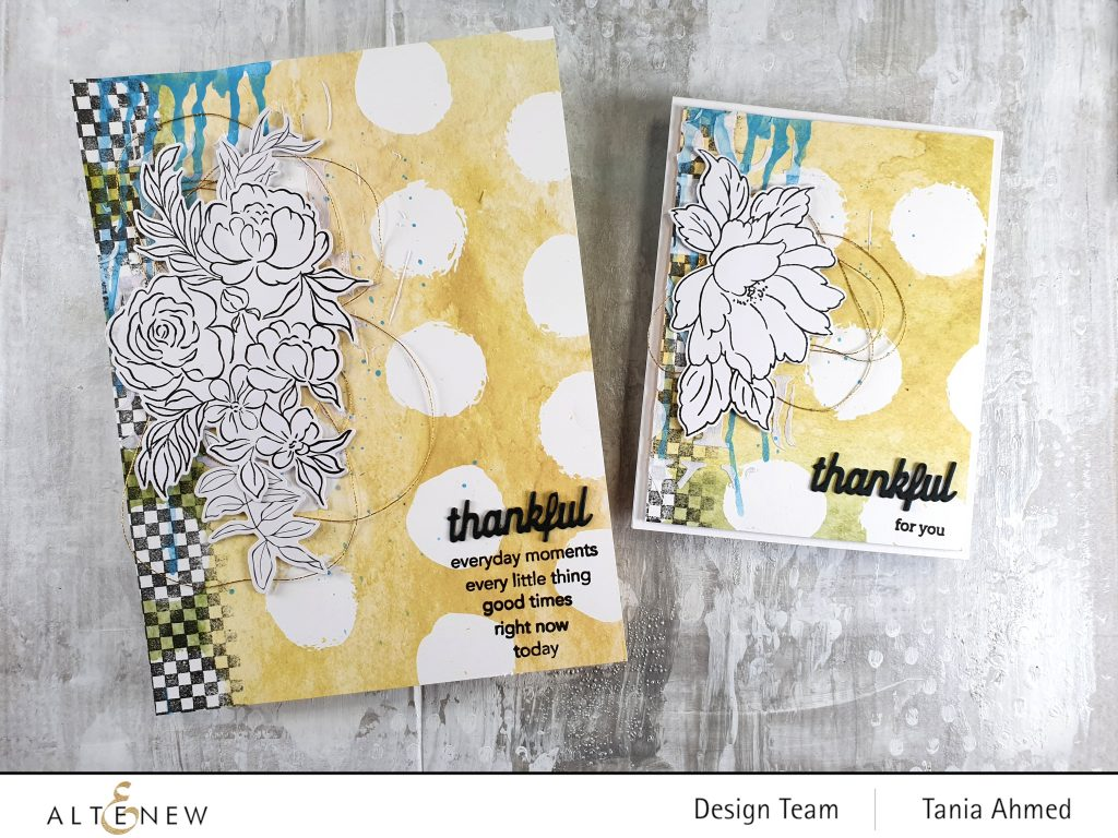 altenew mixed media art journal and card