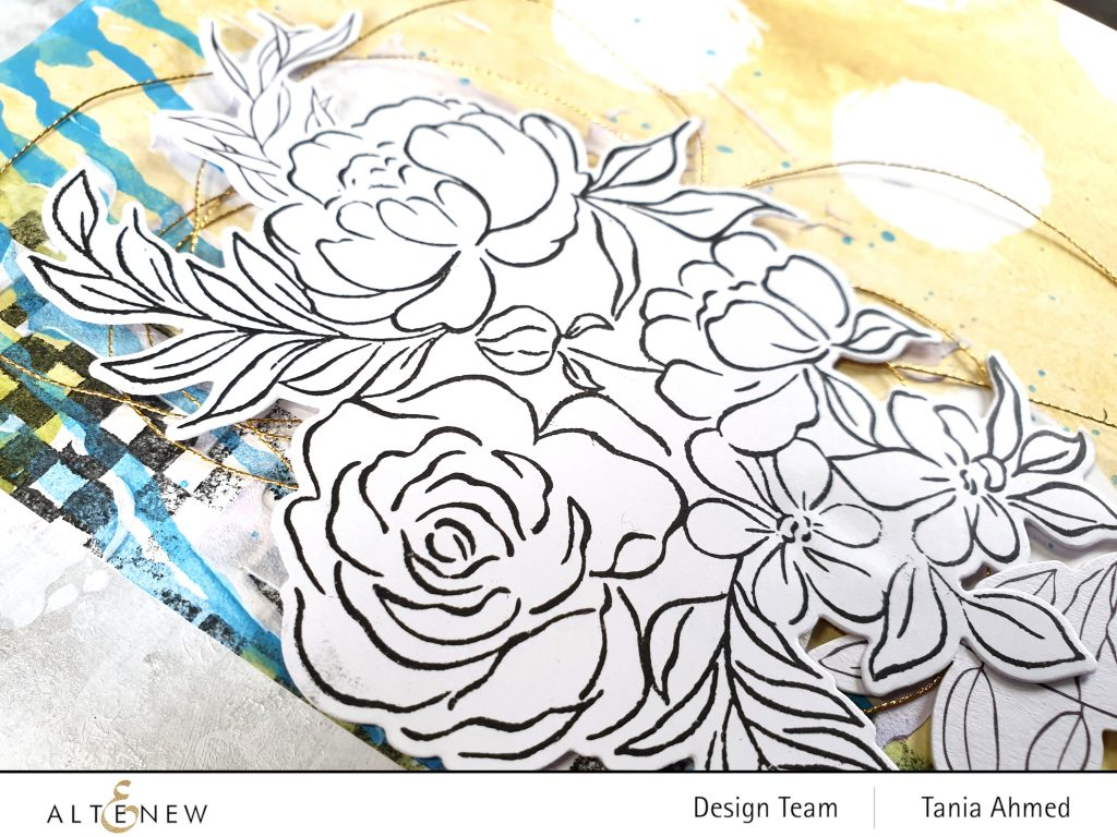 altenew art journal floral grunge