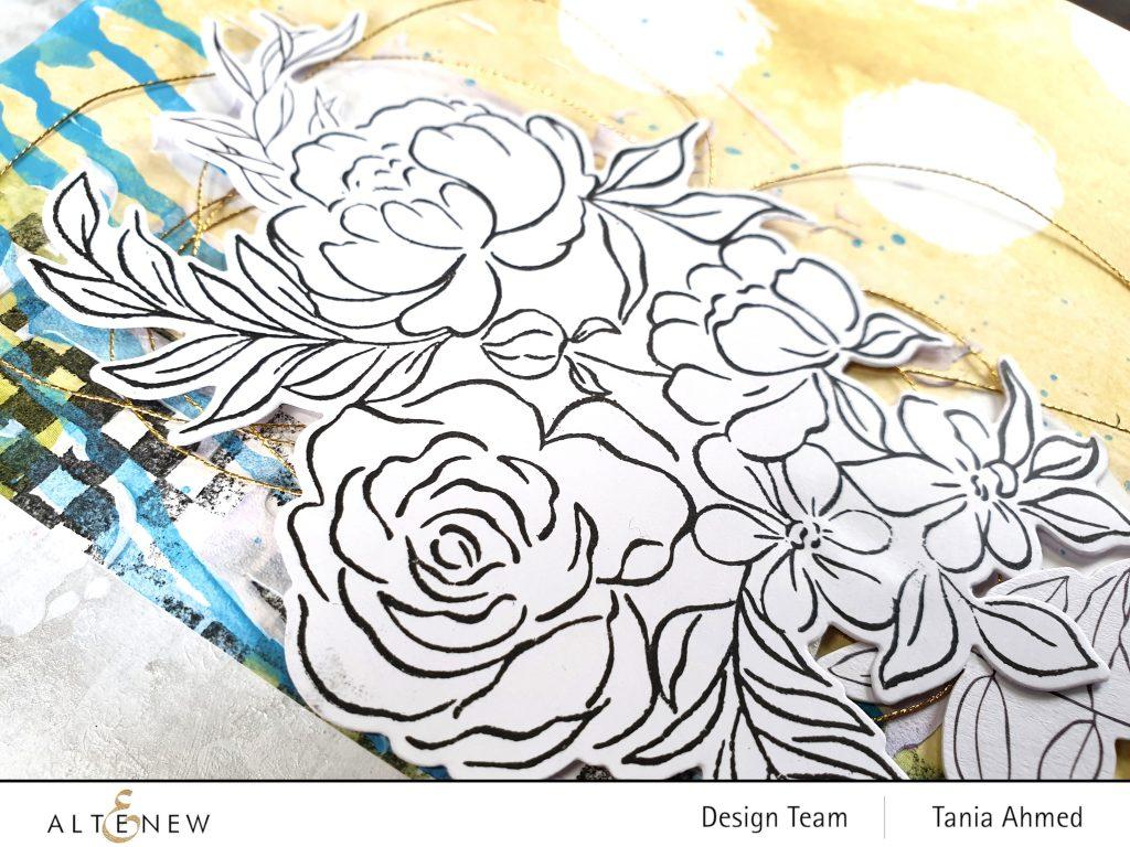 altenew art journal floral grunge