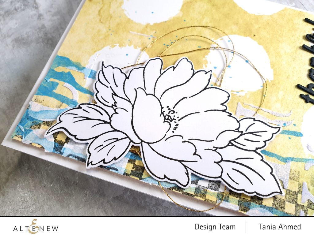 altenew mixed media art floral card