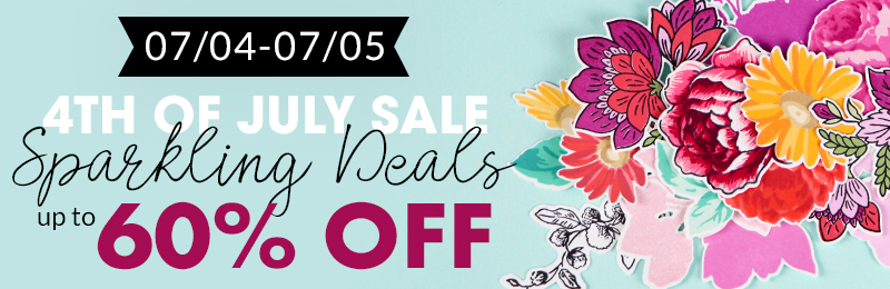 Enjoy up to 60% off on select stamps, dies, inks, and other paper crafting supplies!