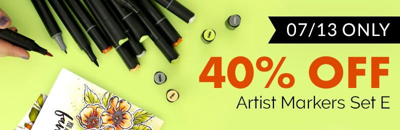 40% off artist markers set e