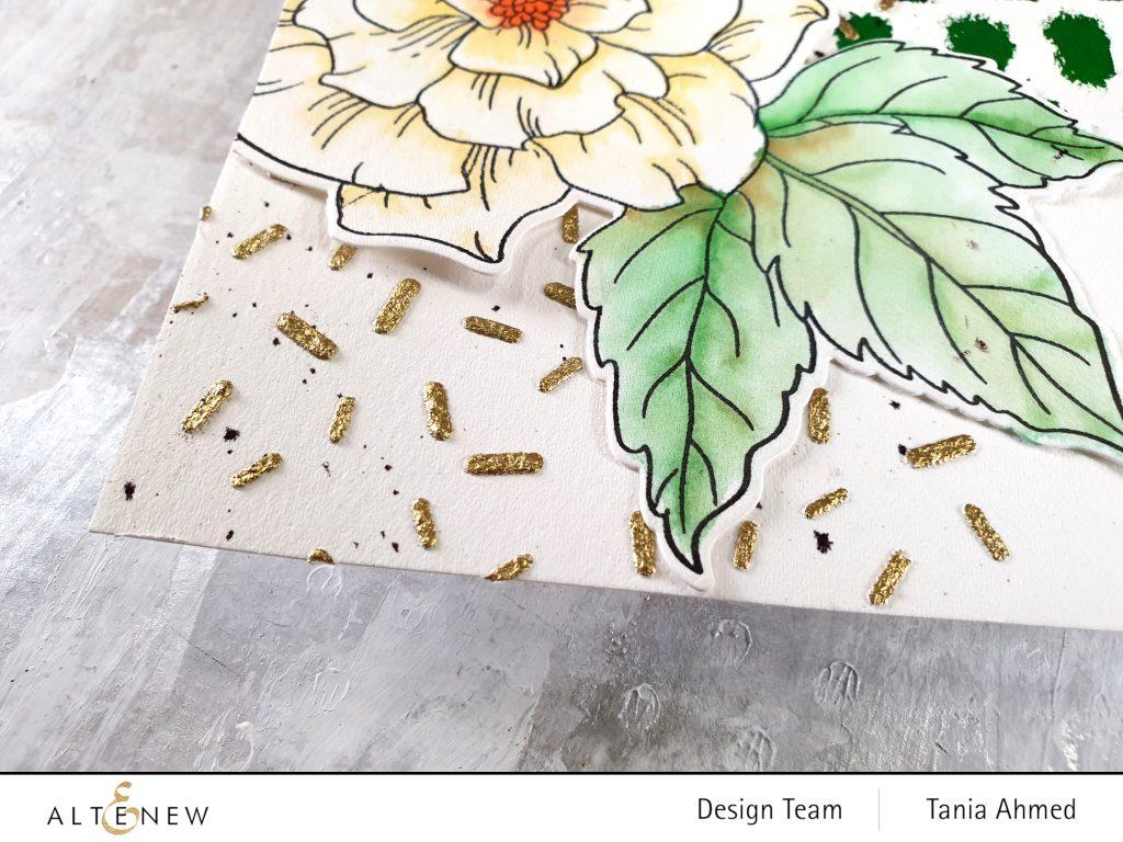 art journal metallic embossing powder watercolor brush markers closeup