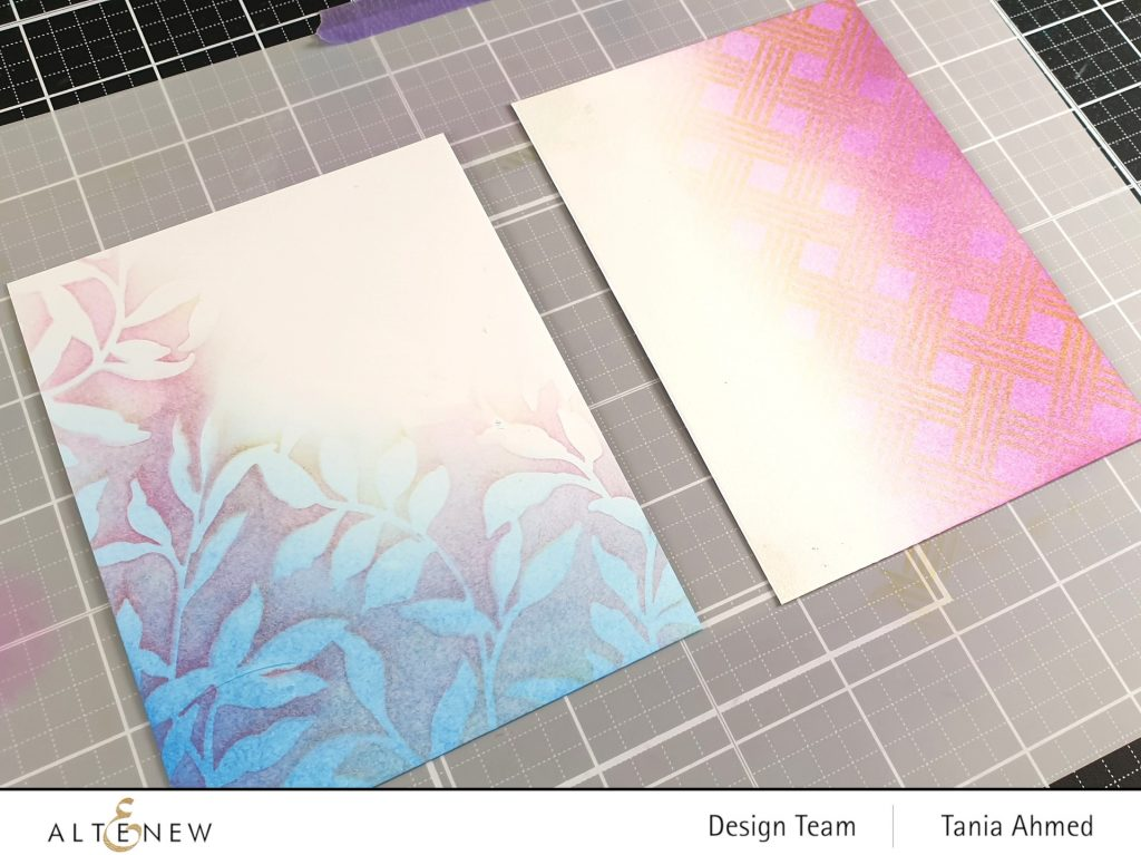 Ink blended card backgrounds