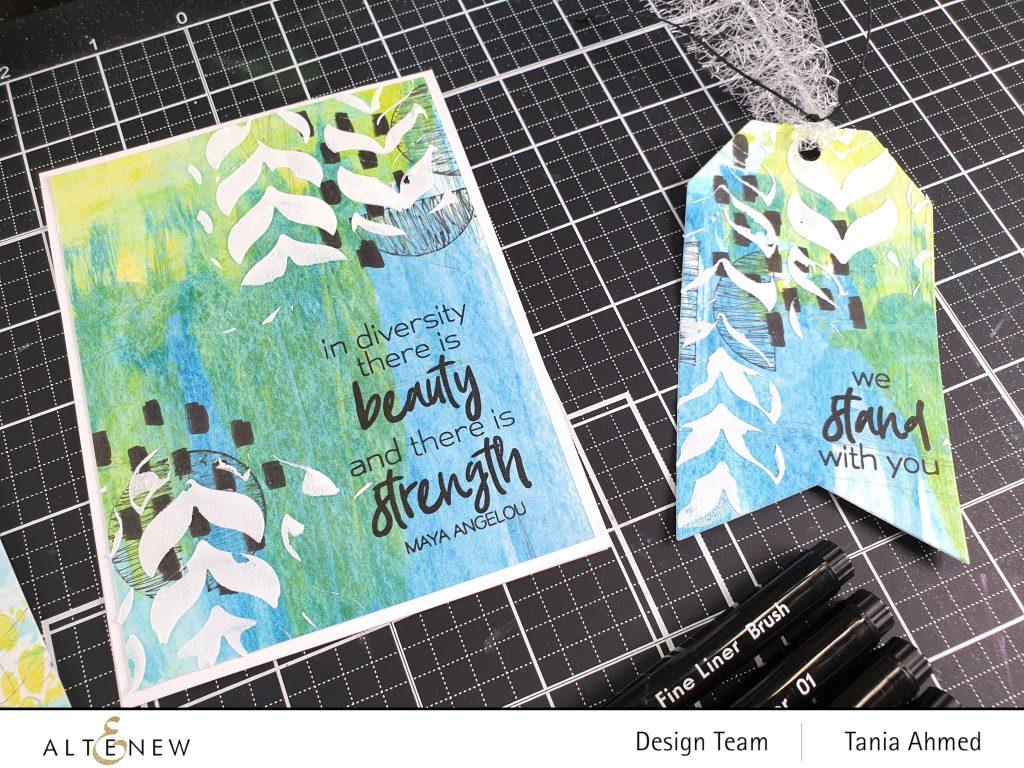 Mixed media Art card and tag