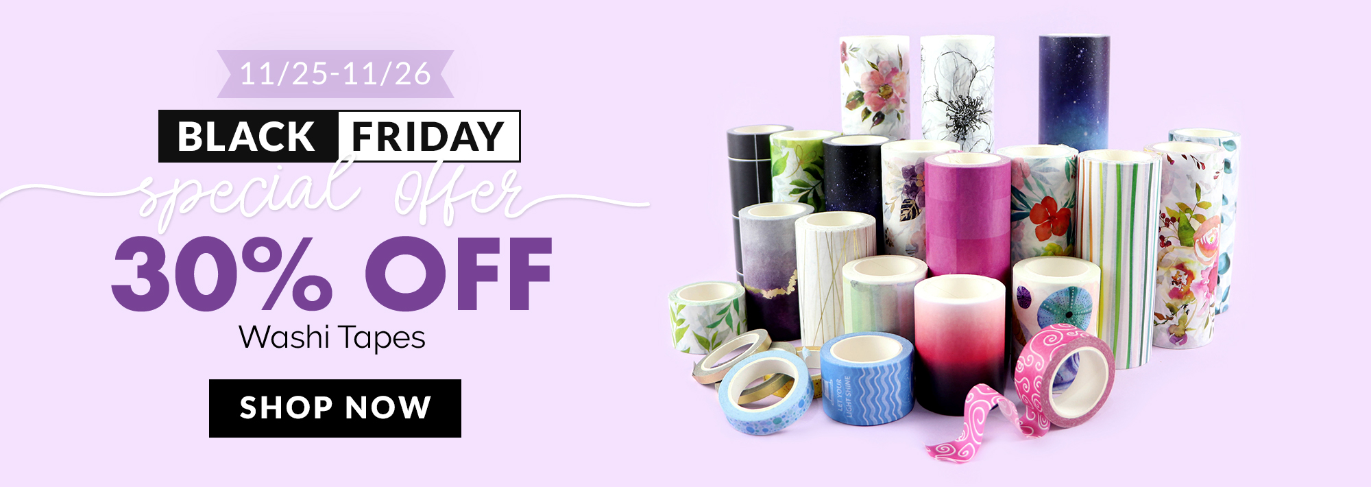 30% off washi tapes