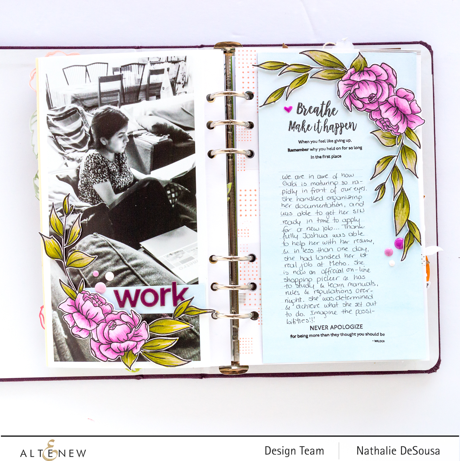 @altenew_ INSPIRATIONA QUOTES STAMP SET Highlight by Nathalie DeSousa