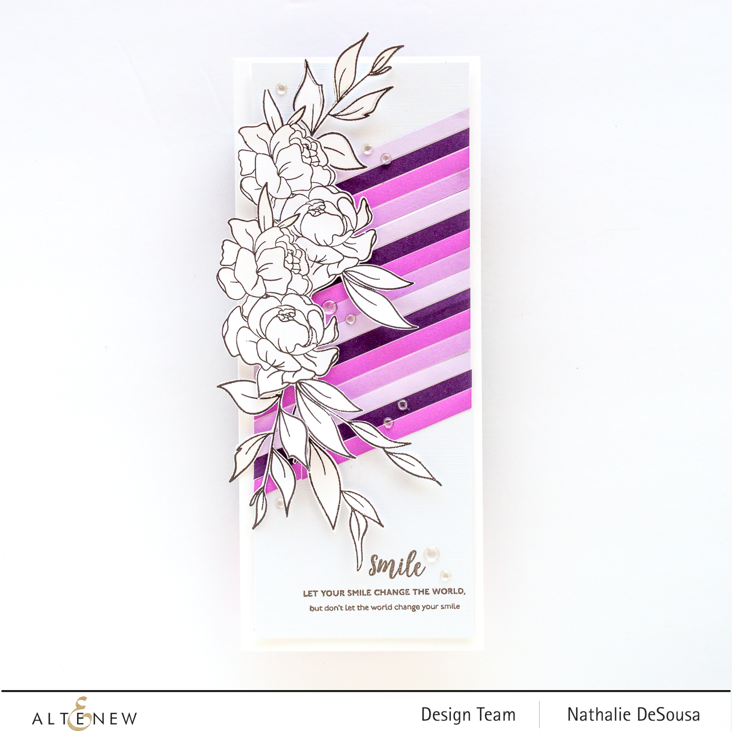 @Altenew_Inspirational Quotes stamp set highlight by Nathalie DeSousa