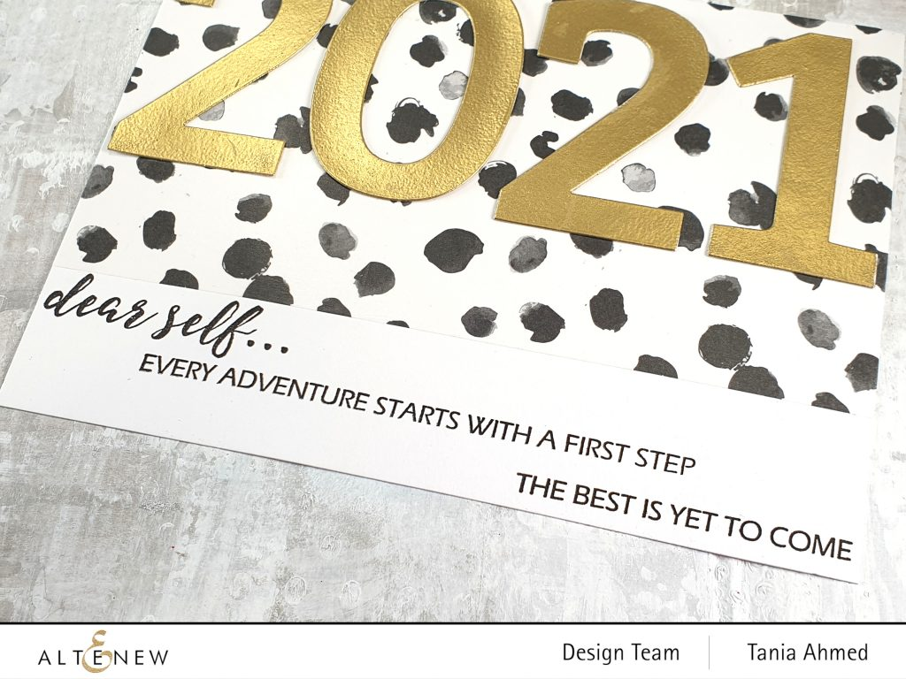 new year art journal stamping