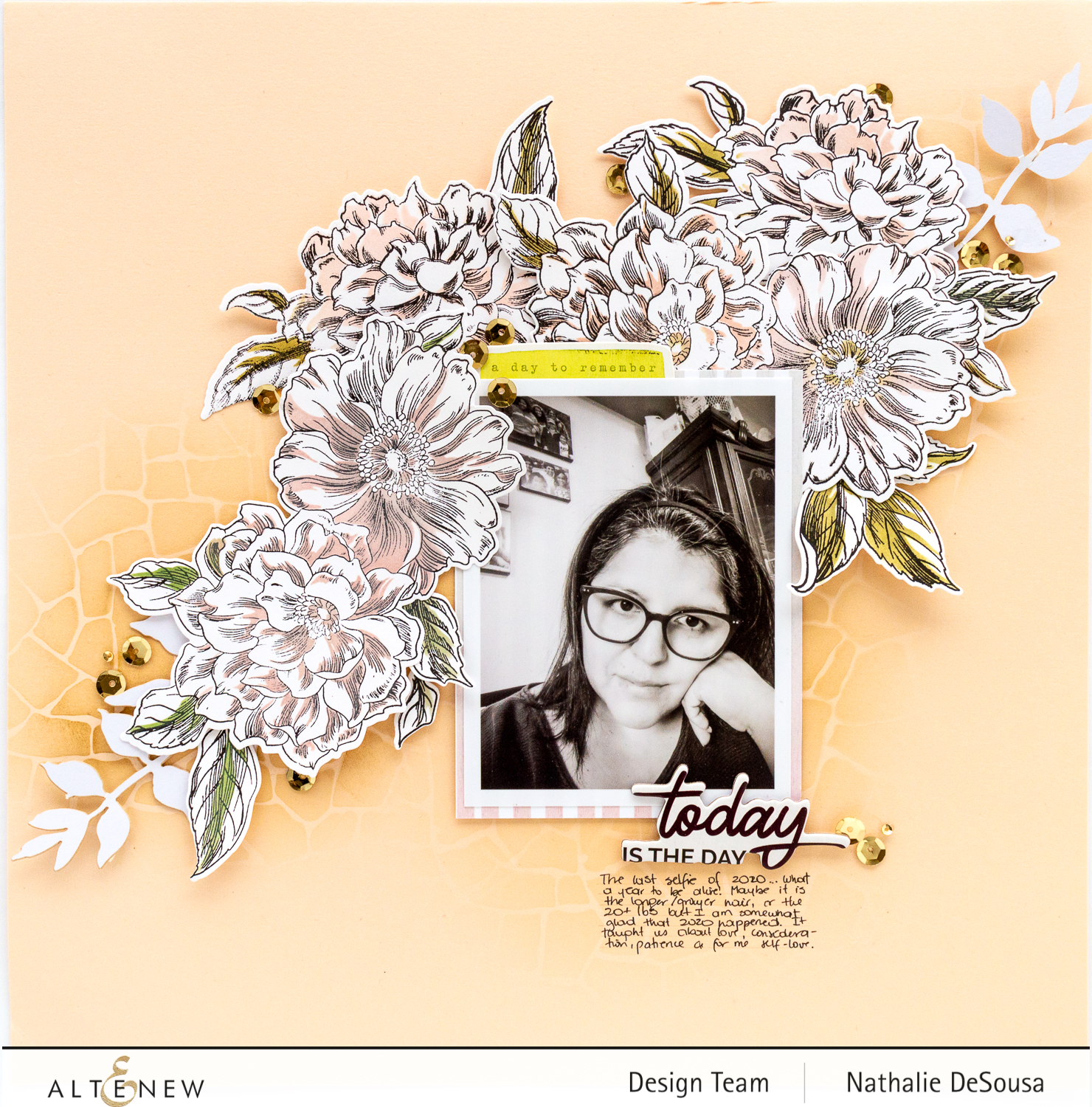 @altenew_ easy coloring techniques with VINTAGE GARDEN Stamp set by Nathalie DeSousa
