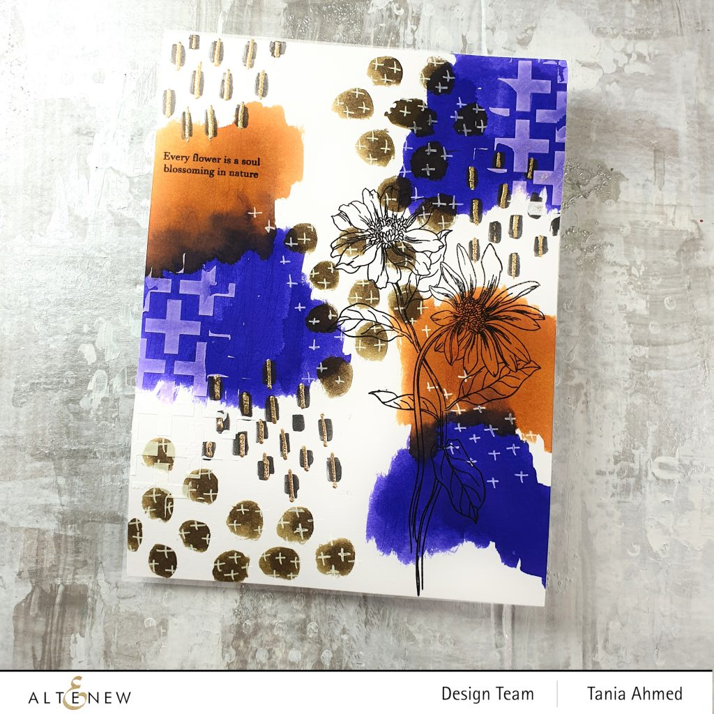 abstract art journal page