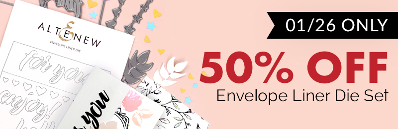50% OFF Envelope Liner Die Set