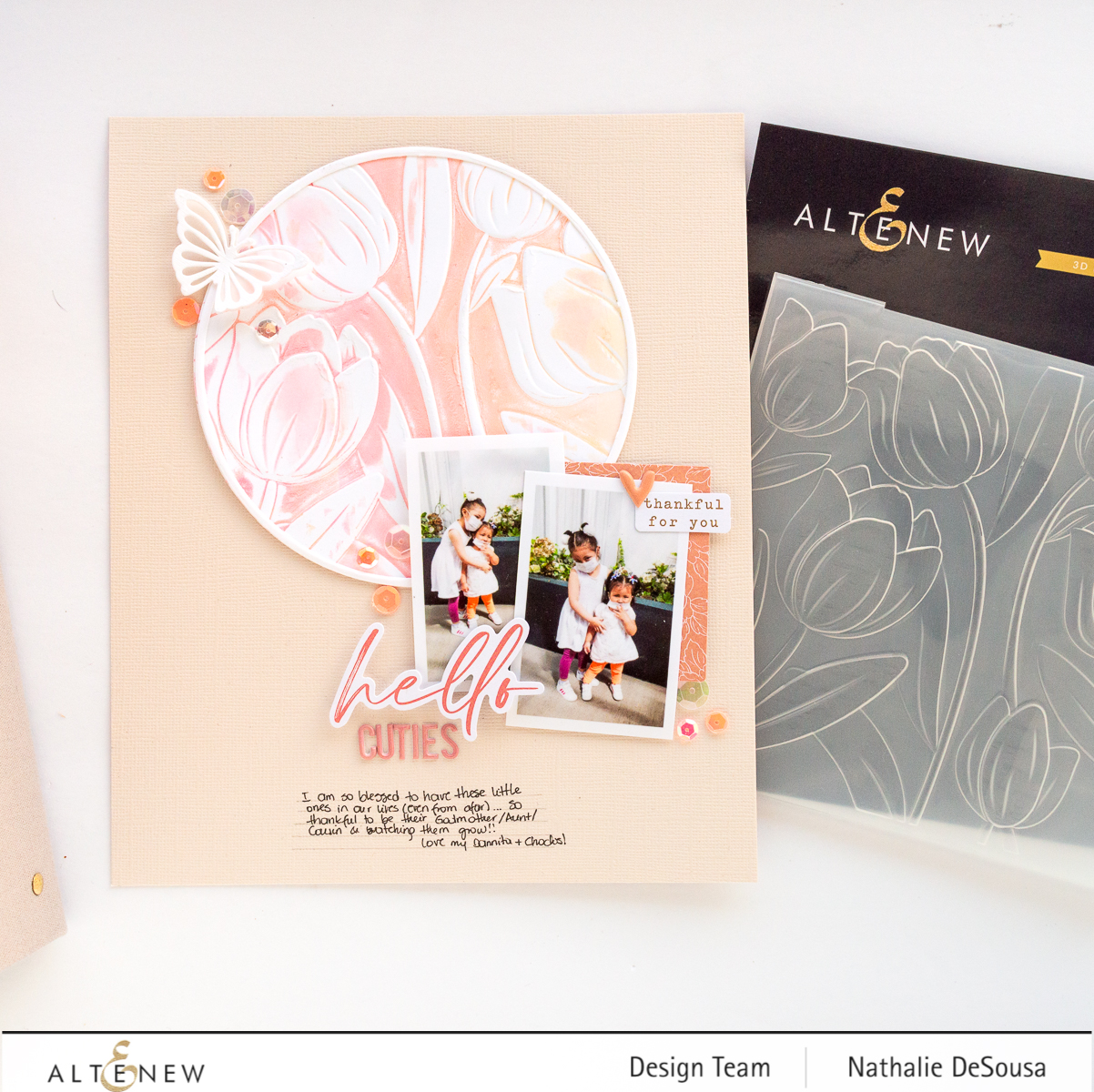 @altenew_ EMBOSSING FOLDERS HIGHLIGHT for Memory Keeping by Nathalie DeSousa