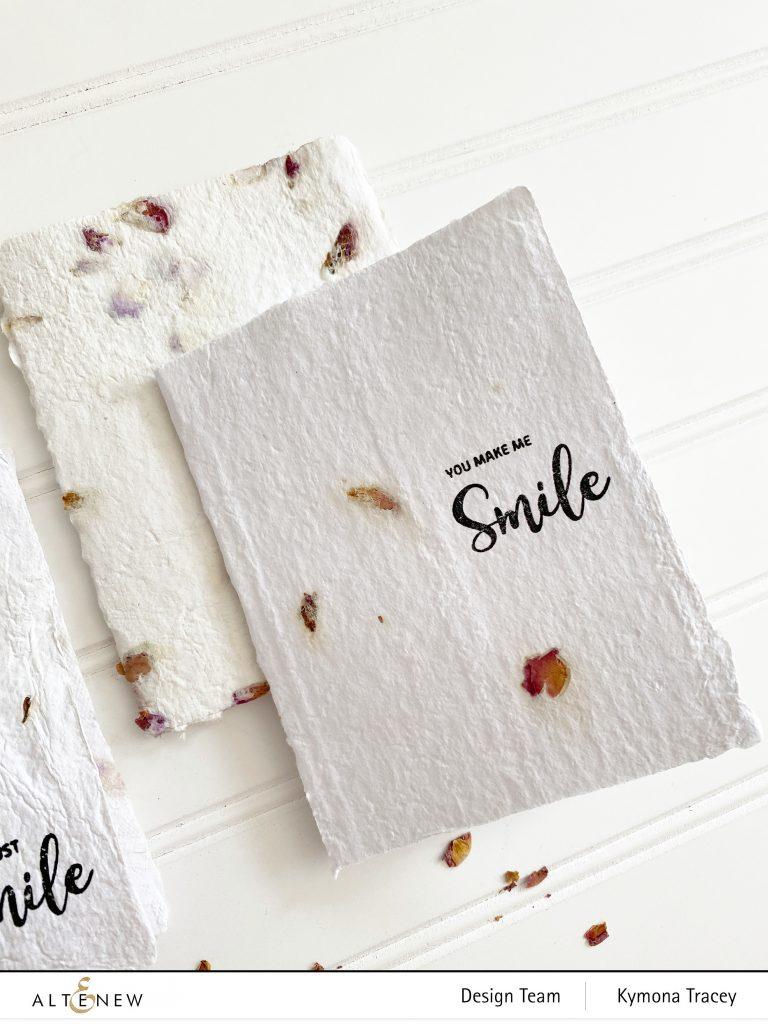 Handmade paper: stamped