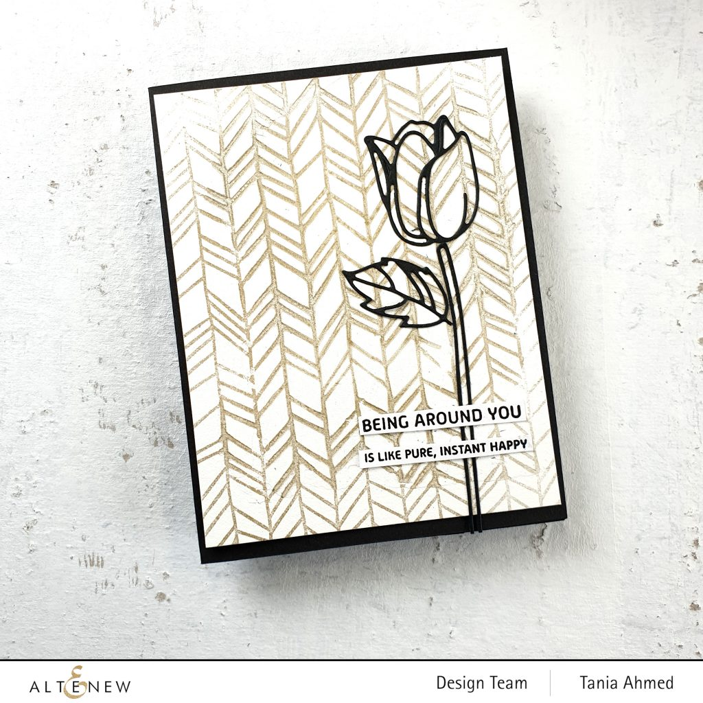 mixed media art card with textured stamping and embossing paste techniques