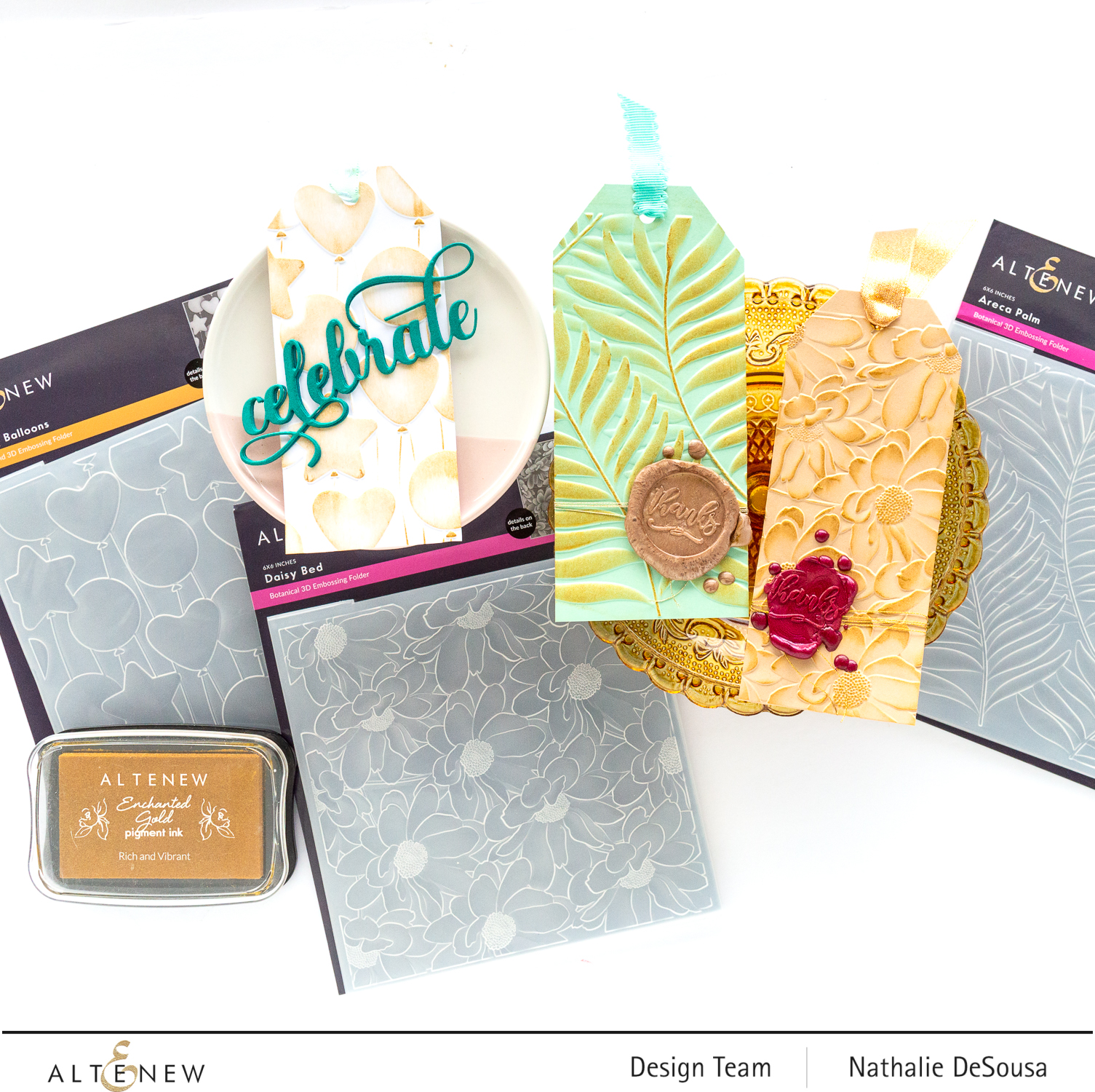 @altenew 3D embossing folders highlight by Nathalie DeSousa