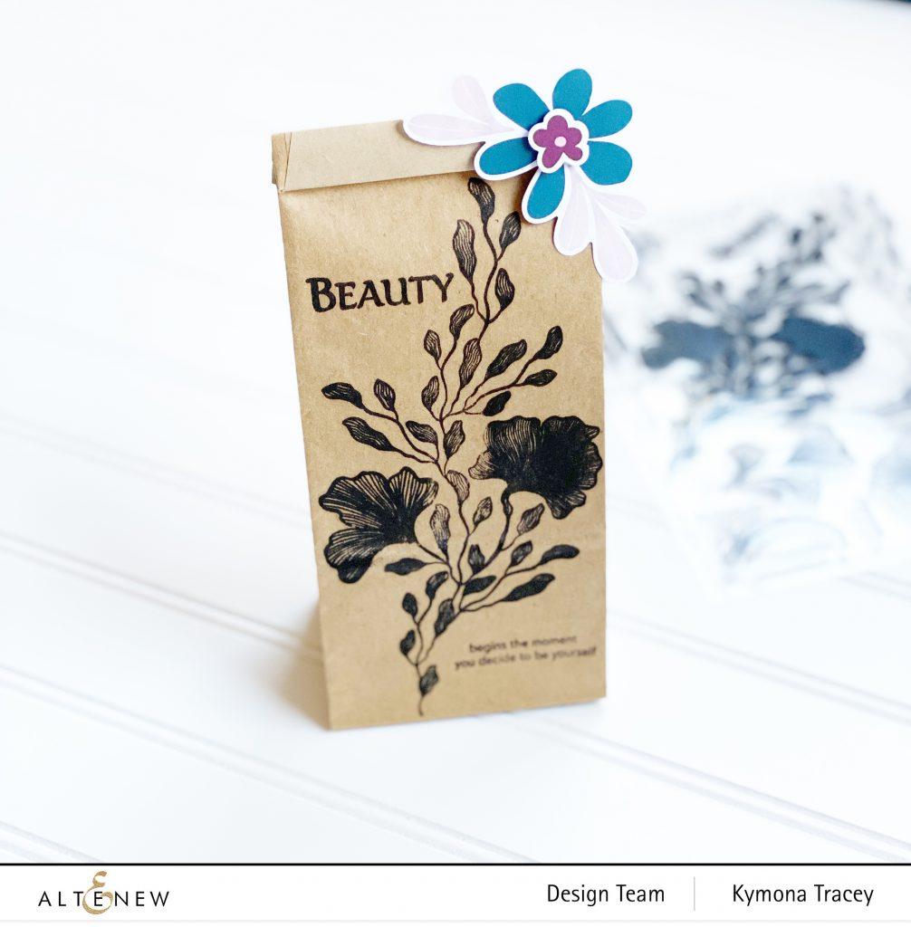 Enchanting Beauty: mini kraft bag