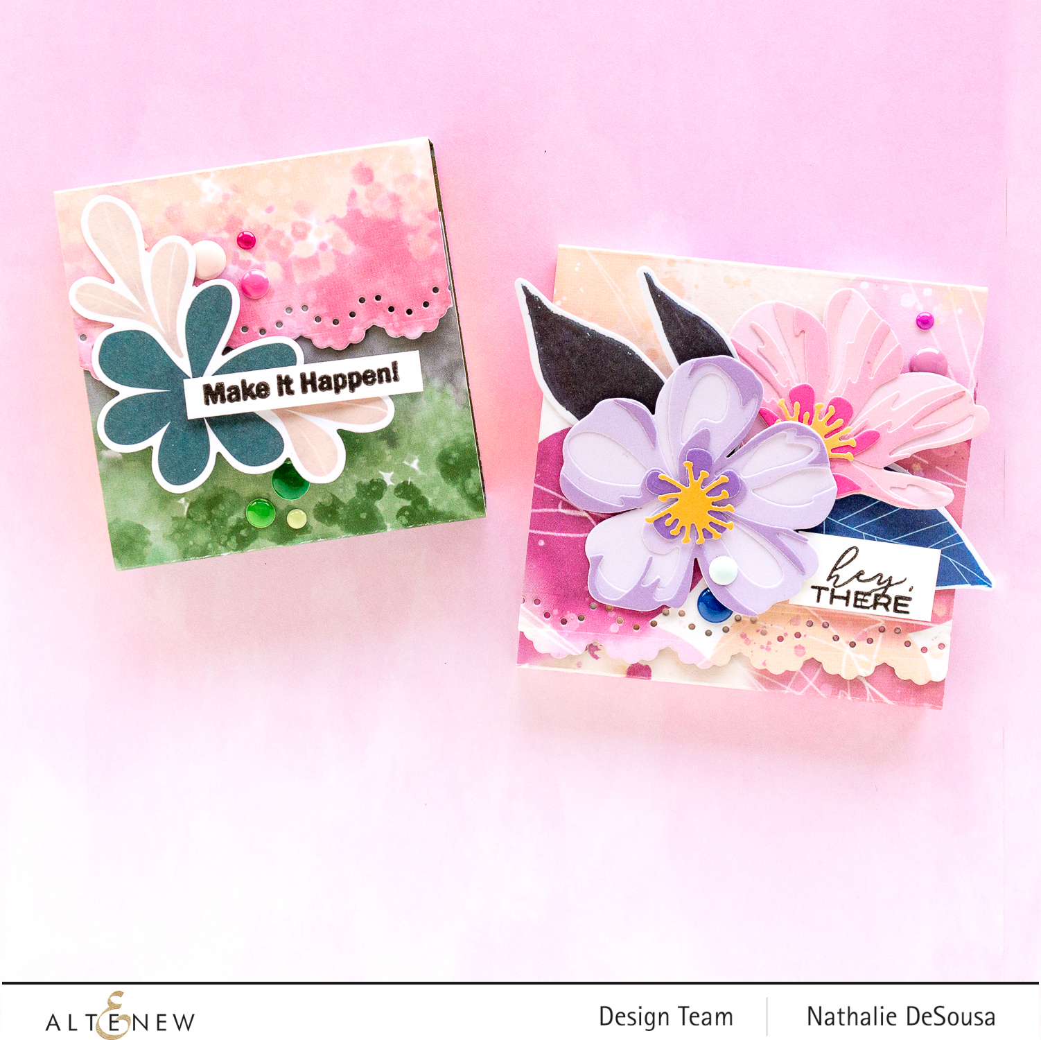 @altenew_ notepad covers with Wildflower collection by Nathalie DeSousa