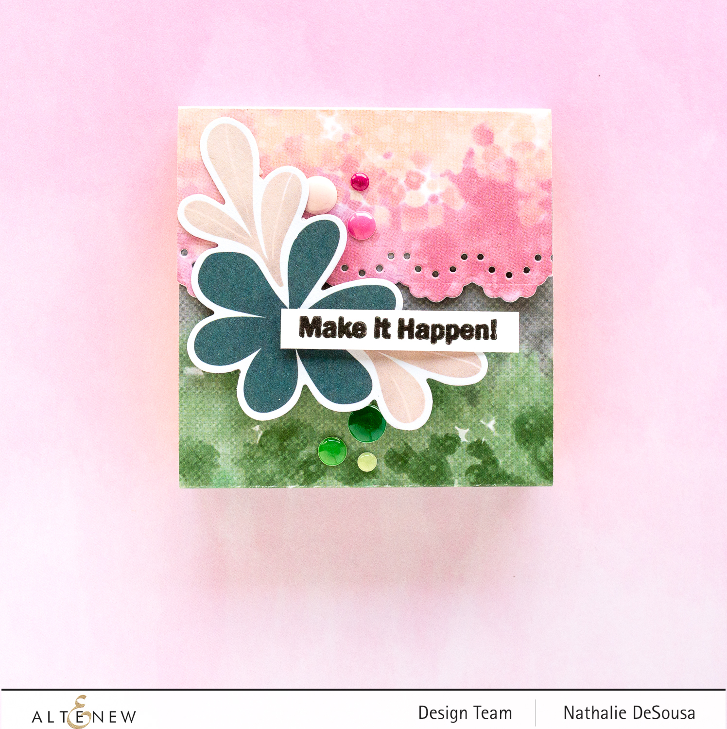 @altenew_notepad covers with Wildflower collection by Nathalie DeSousa
