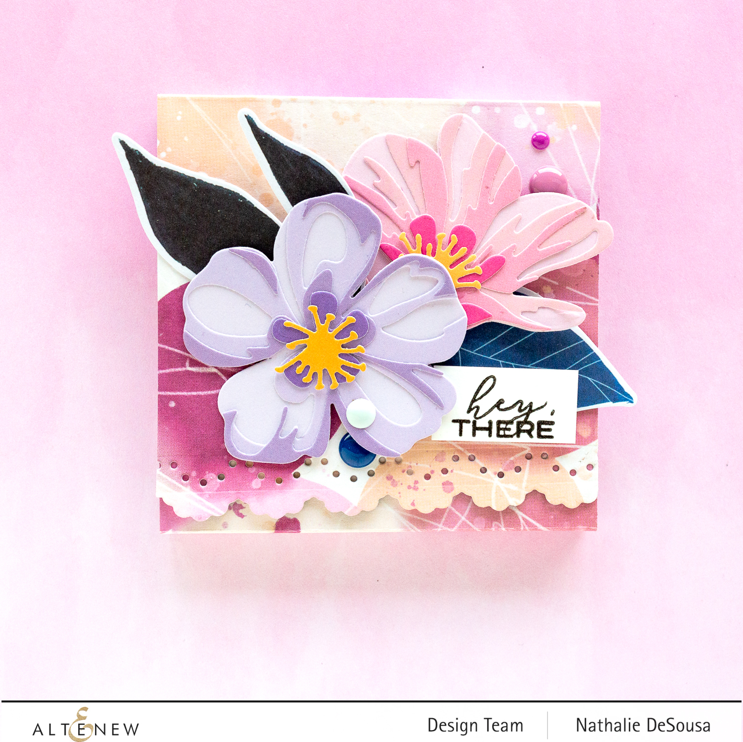 @altenew_notepad cover with Wildflower collection by Nathalie DeSousa