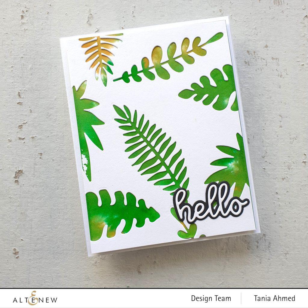 art card using leaf dies
